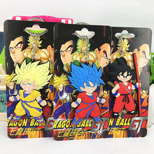 Anime Dragon Ball Monkey Keychain Son Goku Super Saiyan Silicone PVC Keychain action figure 3D  pendant Keyring Collection toy