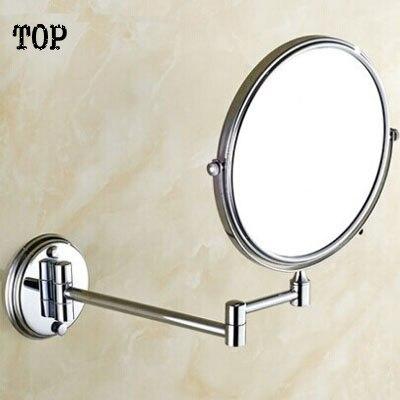 Morden bathroom mirror make up folding bathroom mirror wall mounted mirror folding cosmetic mirror double faced 3x<br>
