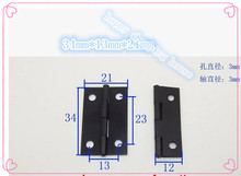 Hardware supplies 1.5 inch black wooden  box small  hinge crafts  accessories gift box hinges 34mmX21mmX0.5mm