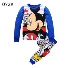 Cartoon 2-7 yrs kids children's set Spring Fall New! baby girls clothing kids pajamas set mickey minnie girls kids clothes sets(China)