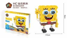 HC Magic Blocks SpongeBob Big size Building Blocks Anime Patrick Star Squidward Bricks Mini Action Model Toys Xmax Gift 9007