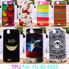 Soft TPU Phone Cases For fly iq4503 iq 4503 quad era life 6 life6 Colorful Back Cover Anti-knock Cases Durable Shell Protectors
