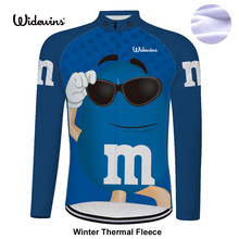 Get into the bowl! cycling jersey long Winter Thermal Fleece bicycle exercise cycling clothing Winter Thermal cycling jersey 650(China)