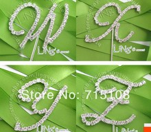Married Wedding Props Rhinestone Diamond 26 English Letter Wedding Cake Decoration Cake Topper A-Z to Choose
