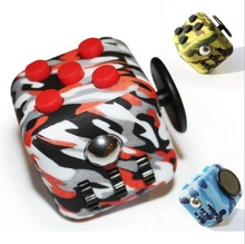 Original Quality Silicone Buttons Camouflage Blue Pink Red Amy Green Fidget Cube Toy Anti Srtress Fidget Stress Relieve EDC Cube