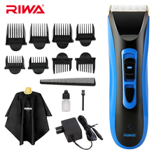 Riwa Professional Hair Clipper Cordless Hair Grooming Kit Wet/Dry Rechargeable Men's Hair Trimmer Shaver Haircut Machine RE-750A(China)