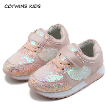 Buy CCTWINS KIDS 2018 Spring Fashion Pink Glitter Girl Sneaker Children Pu Leather Casual Sneaker Baby Boy Brand Trainer F2125 for $21.80 in AliExpress store