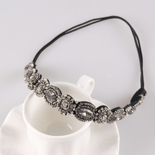 Fashion Handmade Rhinestone Headband Beads Head Jewelry Headbands for Women 1H2001