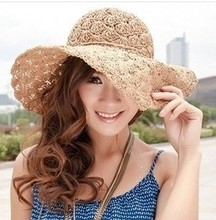 2017 Band New Women's Crochet Hollow Dome Summer Hats For Women mesh Straw Hat Foldable Sun Hat Fashion Beach Hat sombrero(China)
