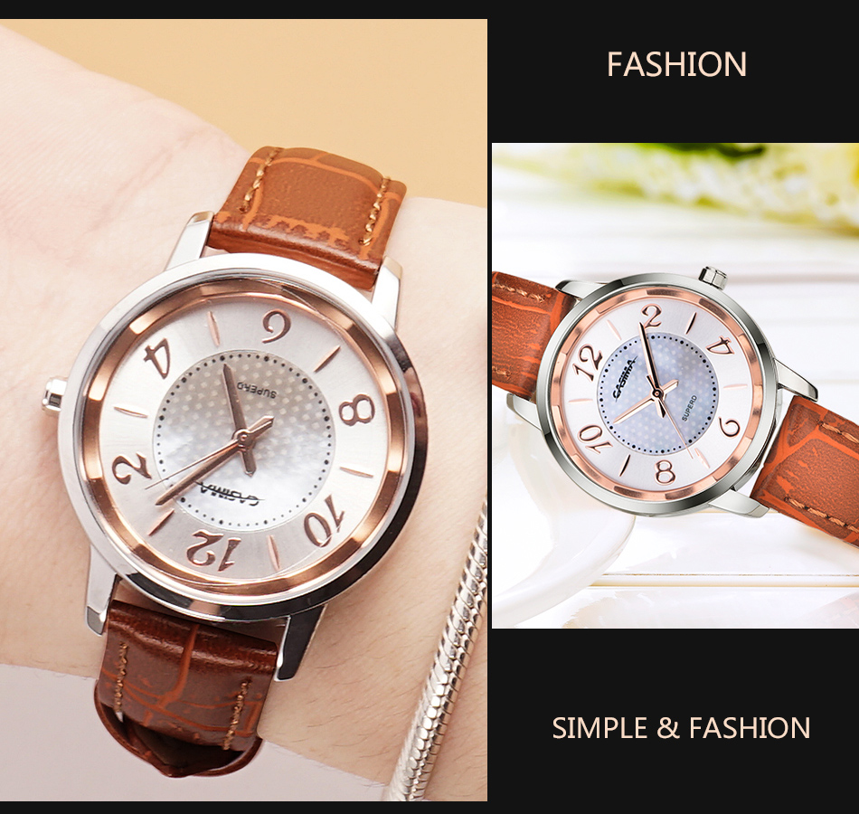 Women casual quartz watch Luxury brand watches fashion wristwatch  beauty ladies watch waterproof 50m CASIMA #3003