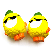 Jumbo Cool Pineapple with Glasses Squishy Soft Doll Squeeze Toy Cartoon Phone Strap Accessories Sweet Scented Slow Rising P20(China)