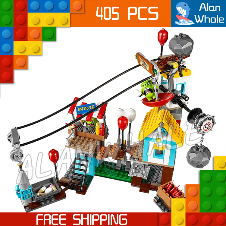 405pcs The Birds Pig City Teardown 10508 Building Blocks Bricks Model Toys Games Movie Children Toys Sets Compatible With Lego<br>