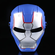 Blue Iron Man Masks full head plastic for men Costumes masque festive masquerade birthday kids party supplies halloween Hot(China)