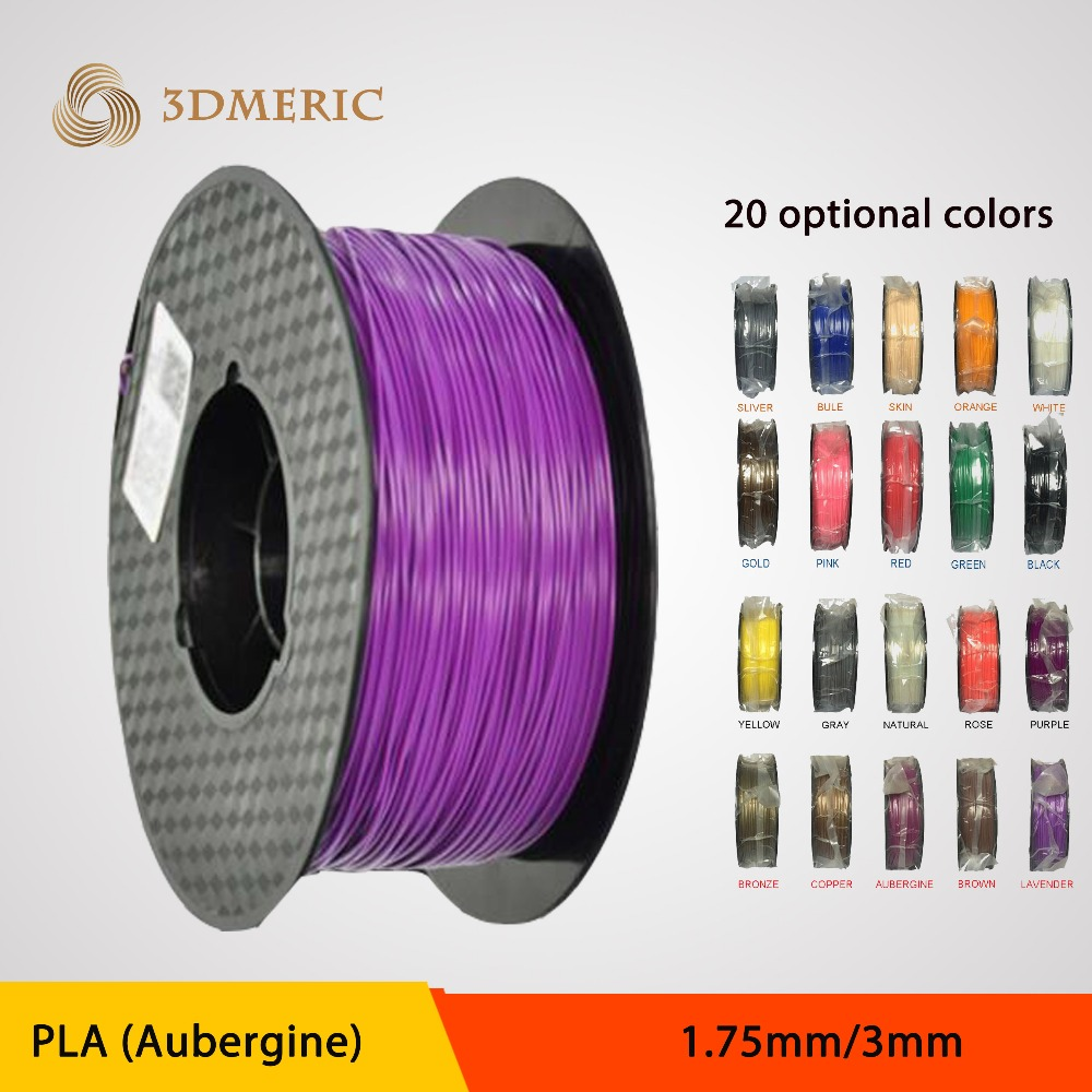 3D Printer Filament 1KG PLA 1.75mm or 3.0 mm / plastic Rubber Consumables Material / MakerBot/RepRap/UP<br><br>Aliexpress