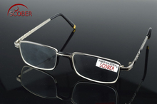 = SCOBER =Two Pairs Full-Rim Natural Crystal Lenses Alloy Comfortable Nose Pad Reading Glasses +1 +1.5 +2 +2.5 +3 +3.5 +4(China)