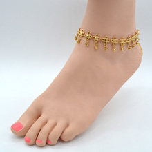 New Designs Charm Anklets Women Vintage Antique Silver Indian Flower Metal Beads Foot Jewelry Anklet Chain Bracelet 1Piece AK055(China)