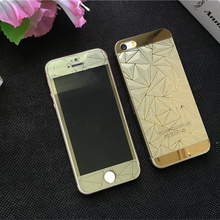 Explosion Proof Tempered Glass Full Screen Protector For iphone 5 5S SE Luxury Colorful 3D Front+Back Film Cover Case Fundas