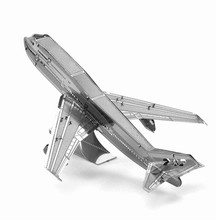 Boeing 747 Jigsaw Puzzle For Children 3D Metal Puzzle DIY Assembly Aircraft Transportation Kids Toys Model Direct Sale Wholesale(China)