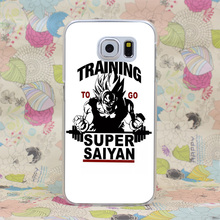 1044HJ Training To Go Super Saiyan Dragon Ball Z Hard Case Cover for Galaxy S2 S3 S4 S5 & Mini S6 S7 Edge Plus