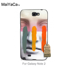 Colored Drawing Back Phone Accessories Composition On Panel Cool Mask For  note2 7100 case