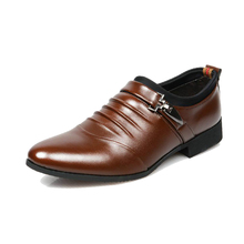 Haolida 2017 Office Men Dress Shoes Italian Wedding Man Casual Shoes Oxfords Suit Shoes Man Flats Leather Shoes Zapatos Hombre(China)