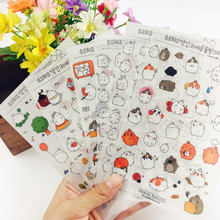 Buy 6 sheets Creative Cartoon rabbit Paper daily Stickers DIY personalized photo album diary cool kids scrapbooking stickers animals for $1.89 in AliExpress store