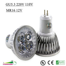 High Power Lampada LED spotlight GU5.3 MR16 led bulbs Dimmable 9W 12W 15W Led Lamp light MR 16 AC&DC 12V GU 5.3 AC110V 220V