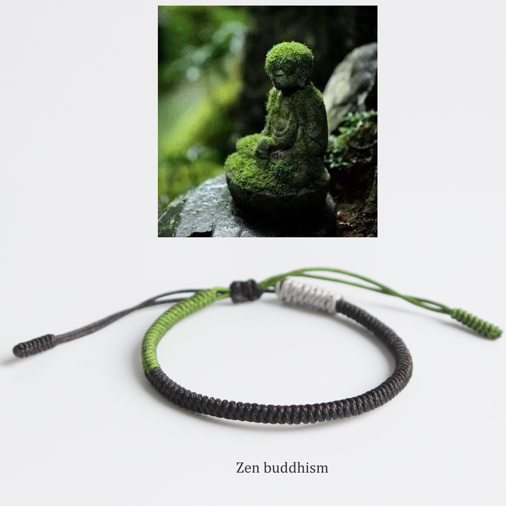 Tibetan Buddhist Handbraided Knots Lucky Rope Bracelet Monks Blessed Jewelry One Heart To The Buddha-Traditional & Zen & Dharma