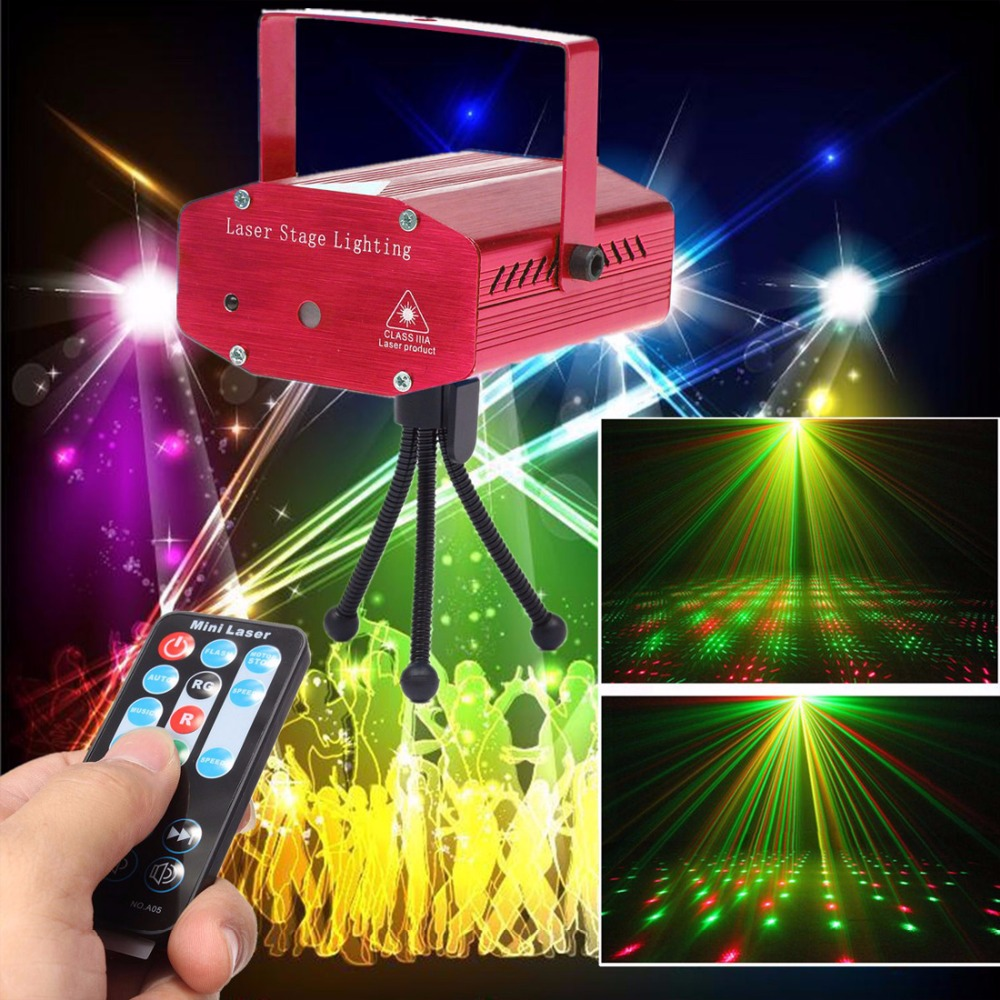 High Quality  Stable &amp; Reliable RED Mini R&amp;G Auto / Voice Xmas DJ Disco LED Laser Stage Light Projector with Remote Controller<br><br>Aliexpress