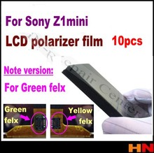 10pcs LCD Polarizer Film for Sony Xperia Z1 Mini Refurbishment Polarized Light Film Sheet  green / yellow flex cable