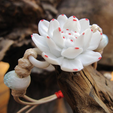 Graceful high quality Jingde Town ceramic lotus flower bracelet for woman