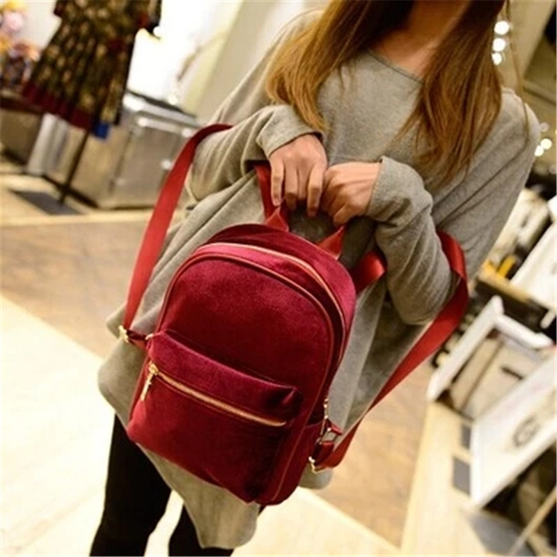 High Quality New Cute Faux Suede Women Backpacks Casual Fashion Bags College Style Backpack Girl Female bags<br><br>Aliexpress
