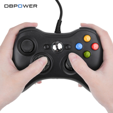 DBPOWER USB Wired Joypad Gamepad Black Controller For Xbox 360 Joystick For Official Microsoft PC for Windows 7 / 8 / 10(China)