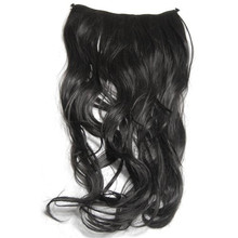 2017 World Pride Gorgeous Long Curly Clip-on Hair Extension Wigs - Black  Cosplay dropshipping A#