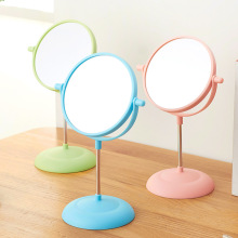 CN-RUBR Makeup Mirror Double Side Comestic Rotating Stand Table Mirrors Ladies Plastic Hot Sales Women Cosmetic Makeup Mirrors