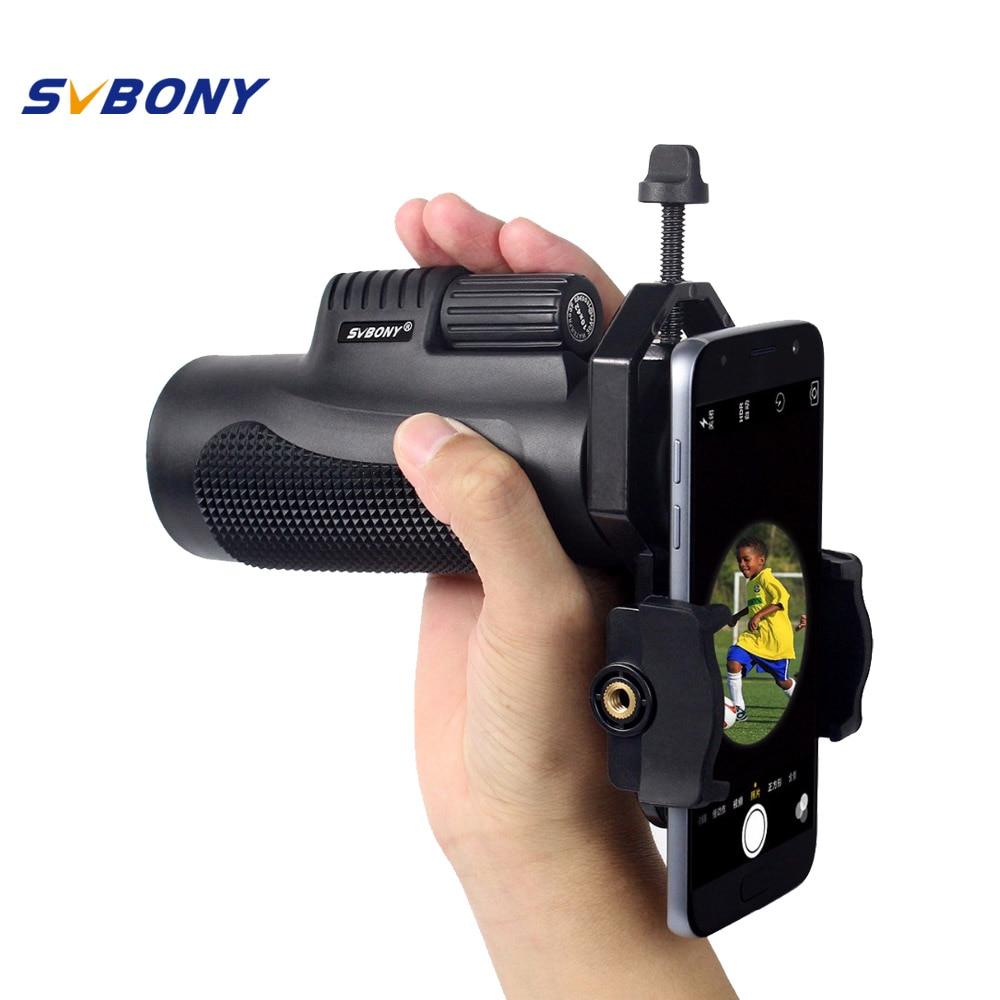 SVBONY 10x42 Monocular Telescope +Phone Adapter Waterproof Nitrogen Travel Telescope Camping Hiking F9116AD<br>