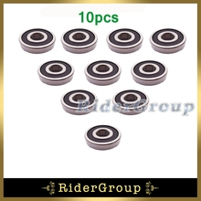 10pcs Rubber Sealed Ball Bearing 6200 RS 10x30x9mm For Pit Dirt Trail Bike Motorcycle Motocross ATV Quad 4 Wheeler