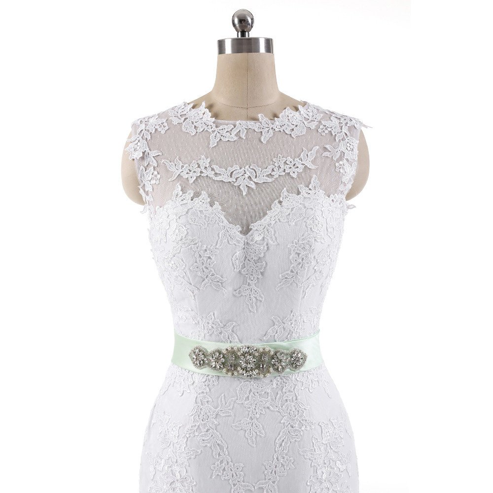 Lover Kiss Vestido De Noiva 2017 Robe De Mariee Elegant Lace Body Sleeveless Wedding Dress Sexy Mermaid Wedding Dress 5