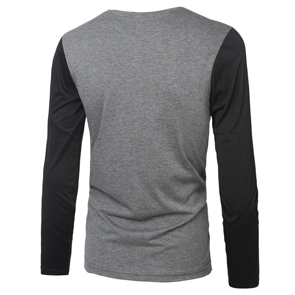 405614058c8 2016 M XXL PU Leather T Shirt Men High Quality Splice Long Sleeve T ...