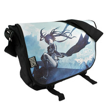 New Fashion Black Rock Shooter BRS Cosplay Crossbody Bag Unisex Cartoon Anime Shoulder Bags Shopping Tote Free Shipping