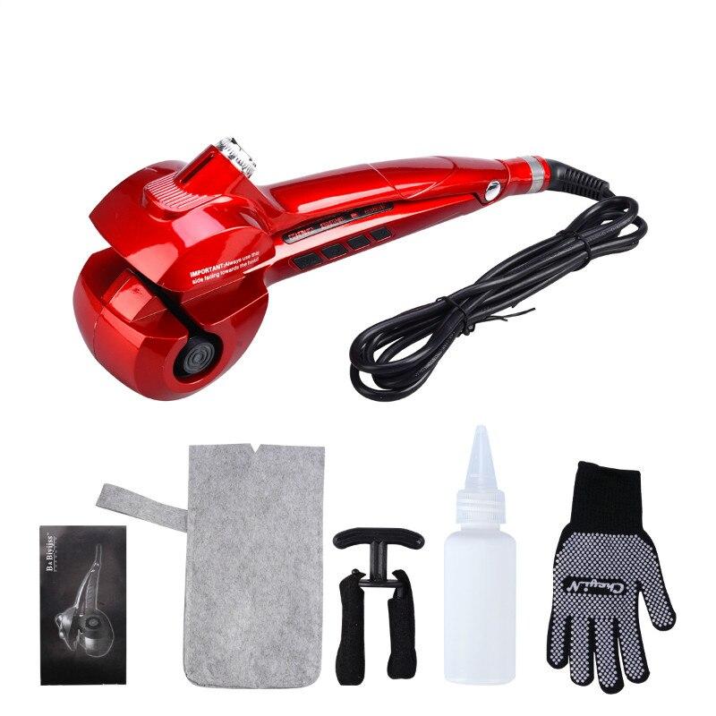 110-230V CkeyiN LED Digital Spray Steam Automatic Hair Curling Iron Ceramic Hair Curler Roller Wand Wave Electric Hair Curl<br>