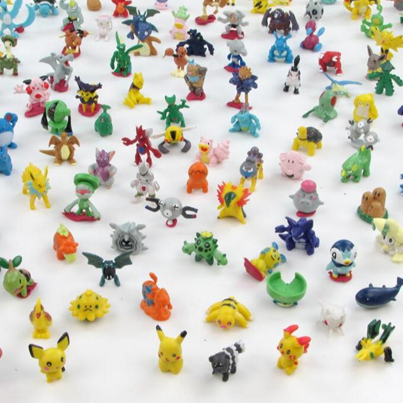144 pcs/set 2017 Newest Cartoon Anime Pikachu Toys Mini Action Figures Kids Toys Brinquedos Birthday Gifts Mixed 2-3cm<br><br>Aliexpress