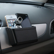 Car Storage Box Mobile Phone Holder Bluetooth Pylons Multi-use Tools Car Containers Pocket Organizer Accessories #HP