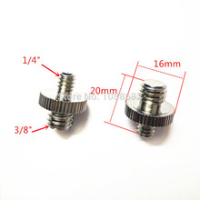 50pcs 1/4 Male to 3/8 Male Threaded Metal Screw Adapter For Camera Tripod Stand Camera Accessories DSLR SLR Accessories(China)