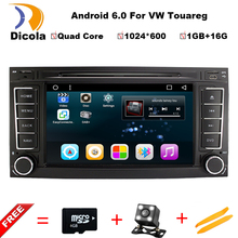 "7"" Android 6.0.1 Marshmallow 1080P Video Car DVD Player for vw Volkswagen TOUAREG Transporter 1080P support OBD2 DAB DTV"