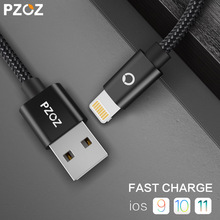PZOZ Lighting Cable Fast Charger Adapter Original Mobile Phone 8 Pin USB Cable For iphone 6 S Plus 7 5S iPad Air 2 iPod Touch i6