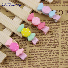VOT7 vestitiy Cute Candy Dot Bowknot Hair Clips Baby Girl Hairpin Child Hair barrettes Accessories Hotsale Oct 12(China)