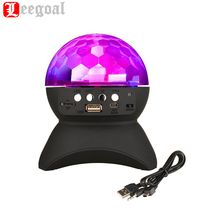 LED Crystal Ball Bluetooth Speaker Light Show Stage Studio Effects Lighting RGB Color speakers support TF card usb AUX for party