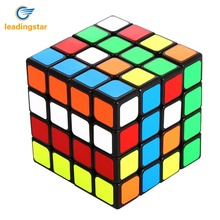 LeadingStar Brain Teaser G4 Magic Cube 4x4 Sticker Twisty Puzzle Competition Speed Cube Black Toy