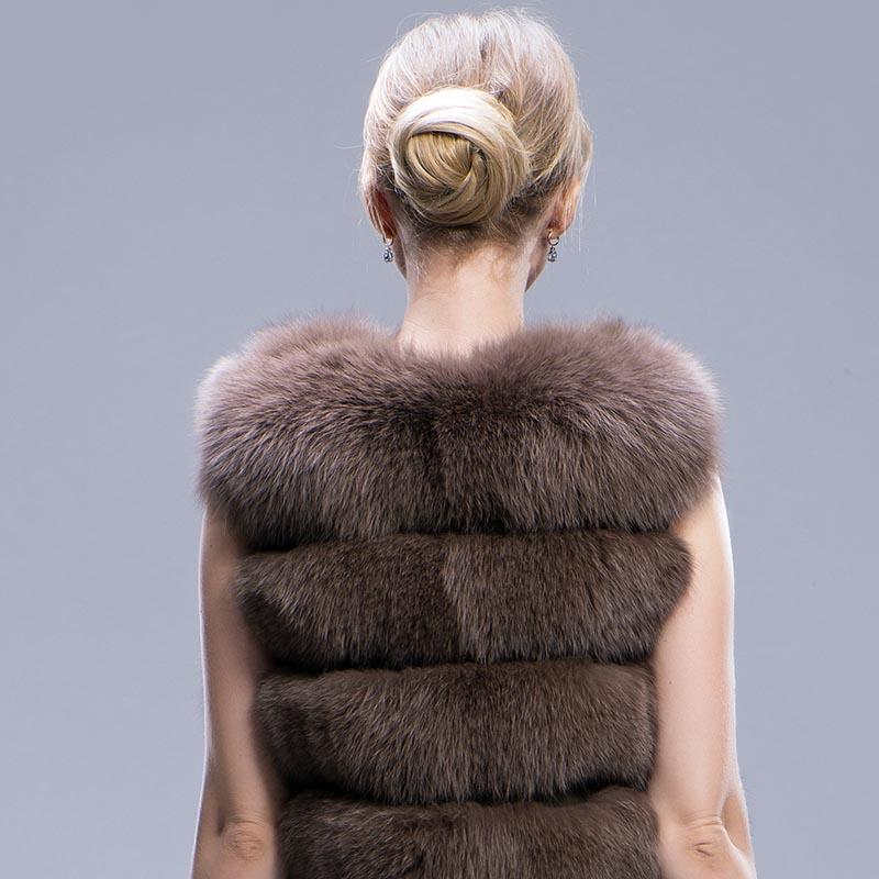 fox fur coat long coffee 8